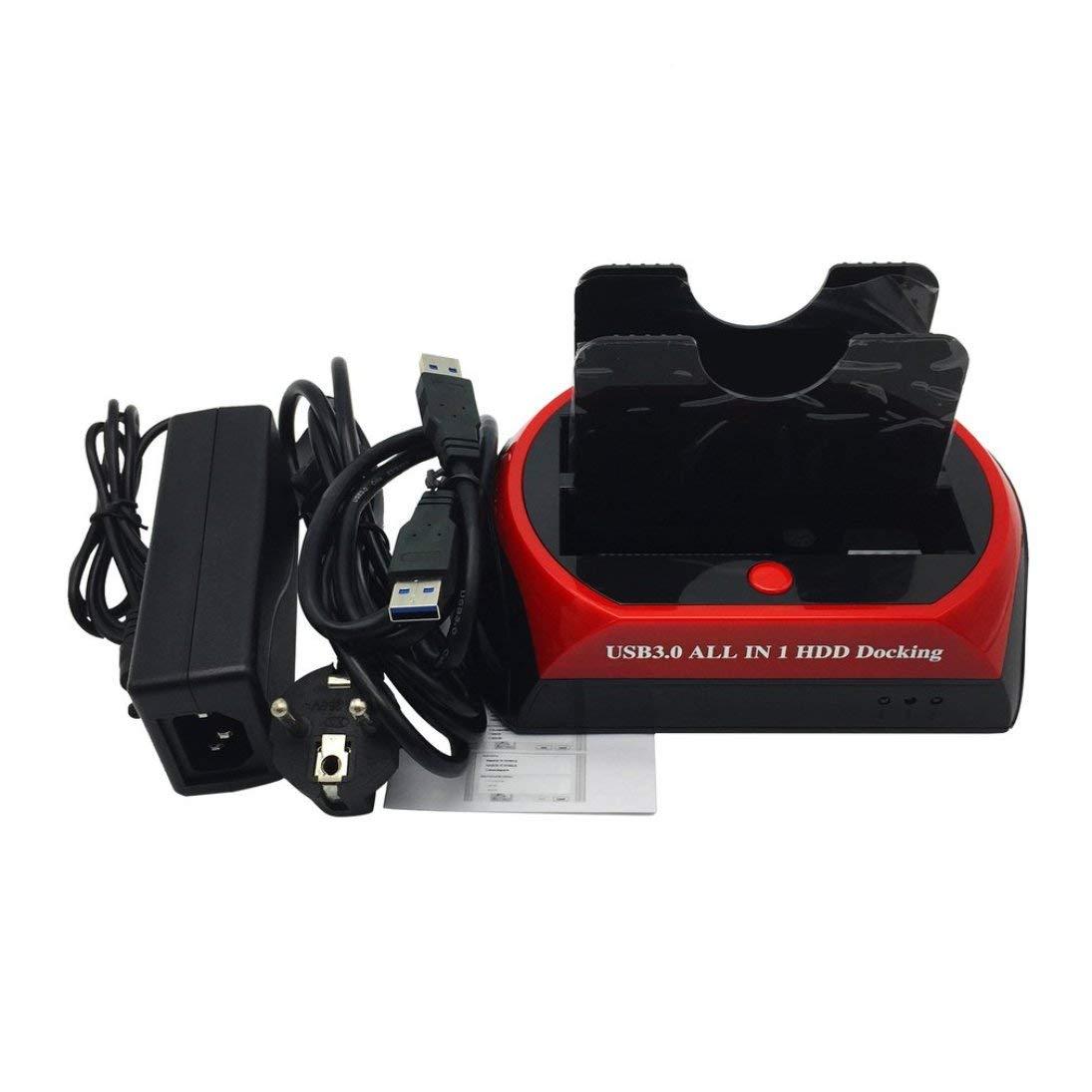875U3-J All in 1 HDD Docking 2.5'/3.5' USB 3.0/2.0 To IDE SATA Dock Station ToGames-ES