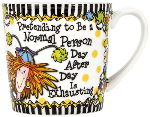 Brownlow Kitchen Brownlow Gifts Gift Mug, Suzy Toronto Pretending, Black/White