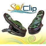Beach Towel Clips, pegs, clamps, épingles, pinces à serviette de plage, SolClip Canada, Flip Flop Army