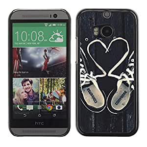 Hot Style Cell Phone PC Hard Case Cover // M00103093 converse photos hearts love shoes // HTC One M8