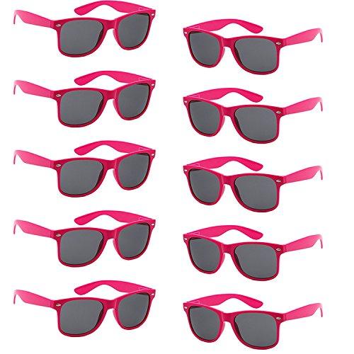 complète 10 pièce Multicolore Protection Pièces Unisexes Soleil FSMILING pièces de Rouge 10 10 polarisées Lunettes Non UV400 Rose xw0BfHqF6