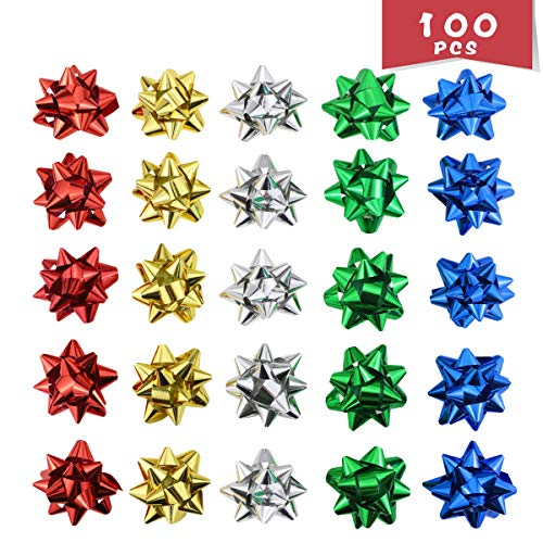 WTSHOP 100 Pieces 2'' Christmas Bows Self Adhesive for sale  Delivered anywhere in USA