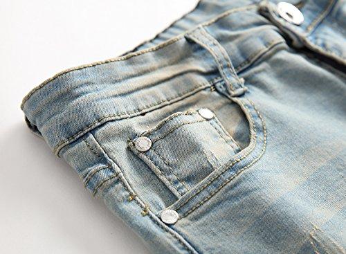 OBT Big Boy's Vintage Ripped Skinny Destroyed Stretch Slim Distressed Jeans Pants 14 by OBT (Image #4)