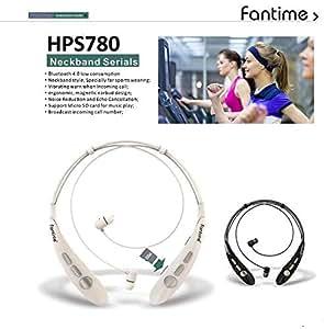 Fantime HPS780 Neckband Serials Stereo Bluetooth Headphone White