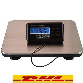 Yiyiby - Báscula digital para paquetes (hasta 150 kg, 300 kg, acero inoxidable): Amazon.es: Oficina y papelería