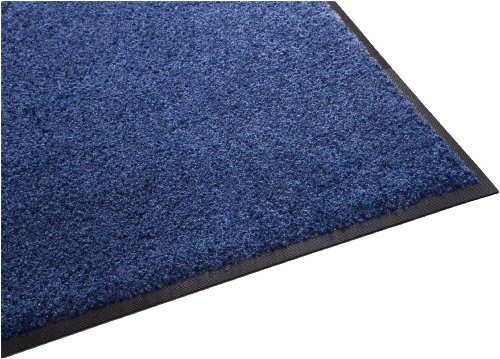 Guardian Platinum Series Indoor Wiper Floor Mat, Rubber with Nylon Carpet, 3'x12', (12' Blue Cleaner)