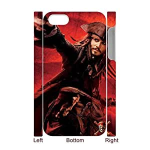 I-Cu-Le Diy hard Case Pirates of the Caribbean customized 3D case For Iphone 4/4s