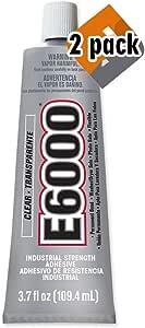 E6000 Craft Adhesive, 3.7 Fluid Ounces (2 Pack)