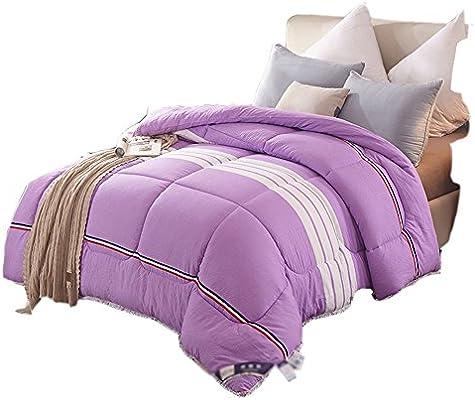 ZRXian-Edredones Colcha Edredón de algodón de Espesor de Tejido de Plumas Mantener cálido Solo/Doble edredón de edredón de Cama (Color: púrpura) núcleo Colcha (Tamaño : 200 * 230cm3.5kg): Amazon.es: Hogar