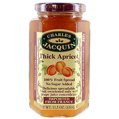 Charles Jacquin French All Natural Fruit Spread 11.5 Ounce Imported From France (Thick Apricot)