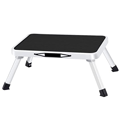 Remarkable Folding Steel Step Stool One Step Ladder With Built In Handle Drive Medical Footstool Foldable Stool With Non Skid Plastic Platform Max Load 330 Lbs Gmtry Best Dining Table And Chair Ideas Images Gmtryco