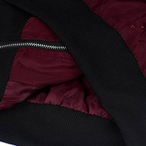 FEITONG Las mujeres delgadas del motorista motocicleta suave La cremallera chaqueta de la capa corta Vino