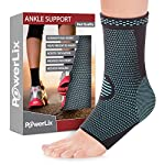 PowerLix Ankle Brace Compression Support Sleeve for Injury Recovery, Joint Pain and more. Plantar Fasciitis Foot Socks with Arch Support, Eases Swelling, Heel Spurs, Achilles tendon