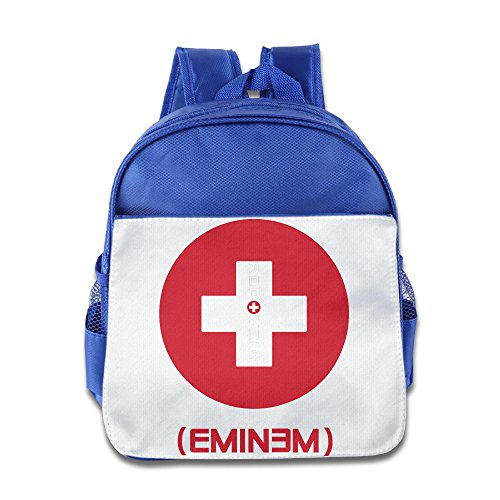 [HYRONE Eminem Recovery Boys And Girls School Backpack For 1-6 Years Old RoyalBlue] (Costume Catwoman Vinyl)