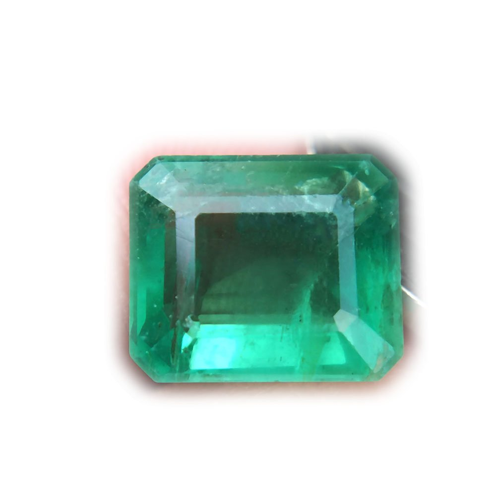 2.73ct Natural Octagon Unheated Green Emerald Zambia #B