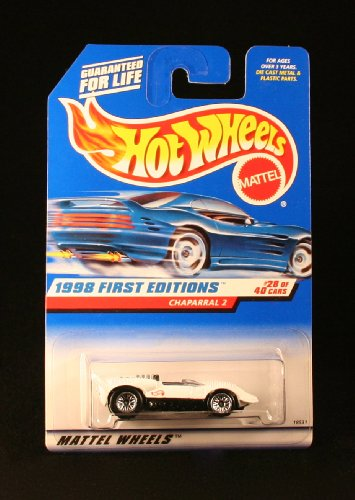 Mattel Hot Wheels 1998 First Editions 1:64 Scale White Chaparral 2 Die Cast Car #028 ()