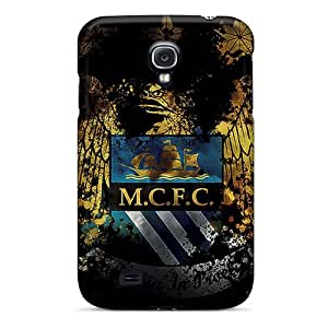 Hot Style QRUAS20778jDppR Protective Case Cover For Galaxys4(manchester City Sport)