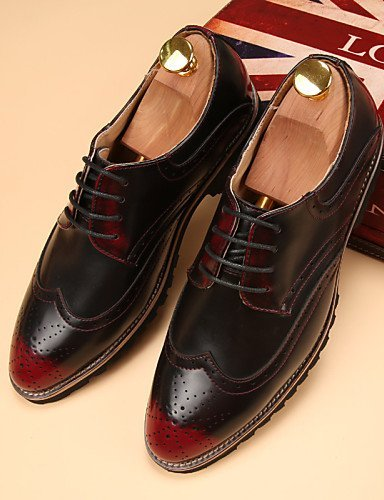 ShangYi Oxford-Schuhe Herrenschuhe Lässig Oxfords Kunstleder Rot / Gold / Orange Red