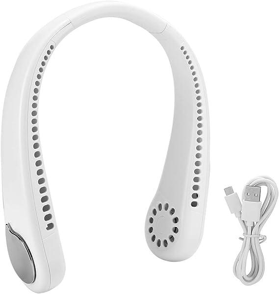 1800 mAhリーフレス充電式首吊りファンファン、旅行遊園地用(white)