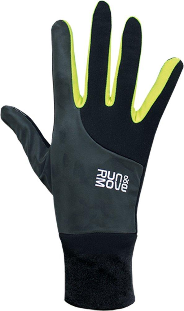 Run & Move Station météo Pro T-Shirt Action All Gants de Course Noir/écran Tactile Fluo Coupe-Vent réfléchissant