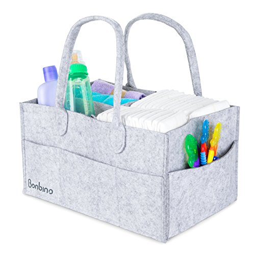 Baby Diaper Caddy By Bonbino - Luxury Portable Diaper Storag