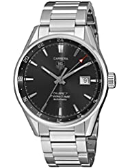 TAG Heuer Mens WAR2012.BA0723 Analog Display Automatic Self Wind Silver Watch