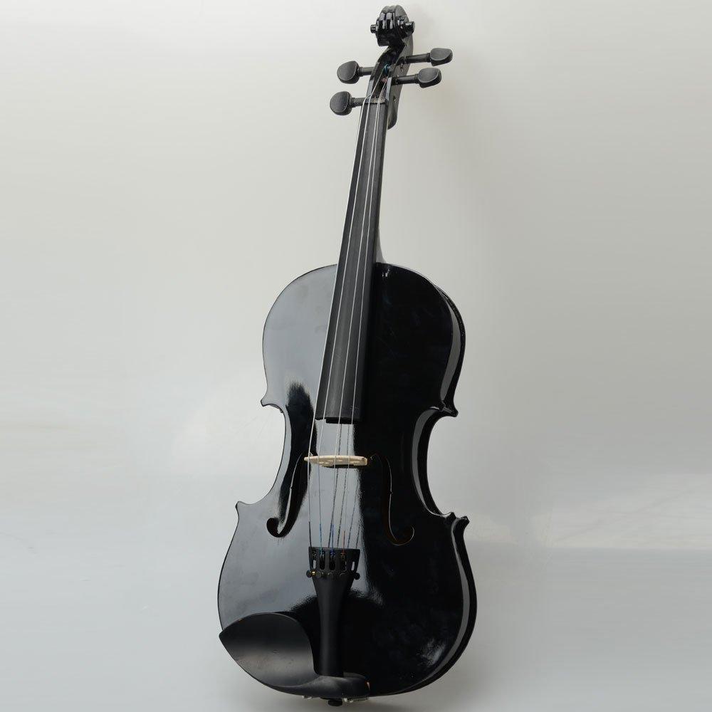 16, Black DeTrust Acoustic Viola 16 Acoustic Viola Case Bow Rosin Minimize Deformation and Cracking High-grade Natural Wood Black