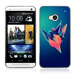 YOYOSHOP [Cool Colorful Gradient Design] HTC One M7 Case