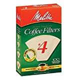 Melitta Natural Brown, Cone Coffee Filters #4 100 Ea (2 Pack)