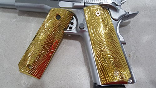 Limited Edition pewter grips Fits All 1911 Grips Colt Grips Full Size Government Pistol Grips Gold Plated
