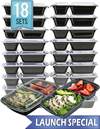 mischome 2 compartment meal prep