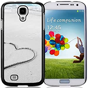 Unique and Fashionable Cell Phone Case Design with Heart In Beach Sand Galaxy S4 Wallpaper