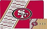 Duck House NFL San Francisco 49Ers Placemat & Coaster Set