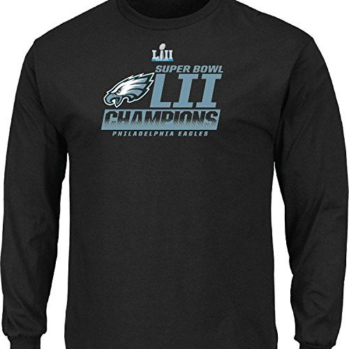 (Philadelphia Eagles 2018 Super Bowl Champions Fanfare Black Long Sleeve T-Shirt Pro line NFL AUTHENTIC (Medium) )