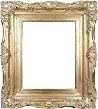 4'' Vintage Ornate Baroque French Silver Picture Frame (24x36 Inch)