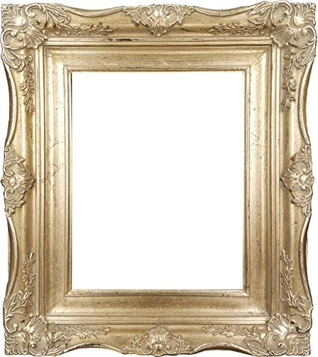 4'' Vintage Ornate Baroque French Silver Picture Frame (24x36 Inch) by ImpactInt