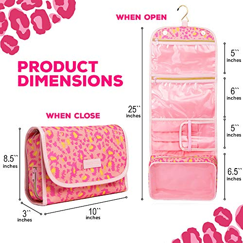 Hanging Toiletry Bag - TSA Approved Travel Kit for Women - Flat Makeup Case - Compact Cosmetic Essentials Pouch - Waterproof Organizer with Sturdy Hook - Dopp with Clear Compartments - Premium Quality by Bella's Gift (Image #5)