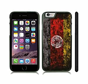 iStar Cases? iPhone 6 Plus Case with German Flag with Football Federation Logo Grunge Look Design , Snap-on Cover, Hard Carrying Case (Black)