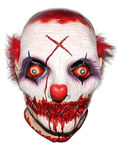 Novelty Clown Mask Halloween 'Sinister's Love Clown' Horror Realistic Halloween Costume Scary Clown Evil Cosplay Party Mask Horror Joker Head -