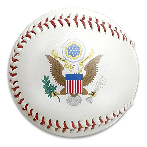 Great Seal Of The United States Funny Printed Baseballs, Gift For Baseball Team - Lapel Pin Signed
