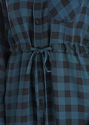 LILYSILK Women's Silk Shirt Dress 16MM Long Sleeve Plaid Work Wear Office Business Ladies Dresses