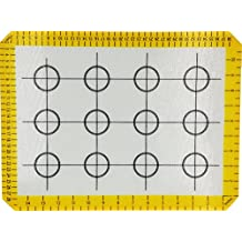Large Silicone Baking Mat With Measurements, Ksendalo Cookie Mat/ Kitchen Mat, Reusable/Flexible/Non-Stick Healthy Cooking Mat, Yellow edition
