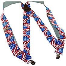 """Holdup Hip-clip 2"""" Wide Trucker Style Suspenders with Patented No-slip® Clips"""