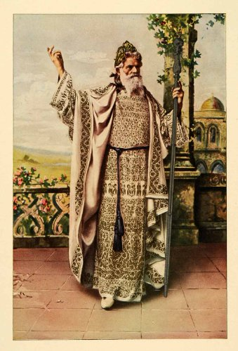 1903 Print Oberammergau Passion Play Actor Joseph Mayr Germany Costume Robe Art - Original Color Print