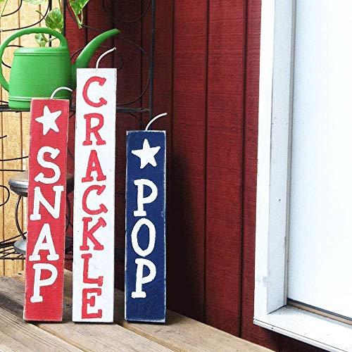 Crackle Pop - Fireworks Snap Crackle Pop Patriotic Wood Sign For Americana Decor Set of 3 A19
