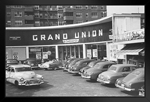 Grand Union Supermarket Shopping Center Vintage Photo Art Print Framed Poster 18x12 by ProFrames - Wayne Mall Shopping