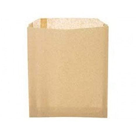 Amazon.com: Llanura Bolsas de papel kraft natural Sandwich ...