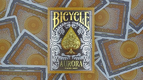 Bicycle Aurora Foil Embossed Tuck Box Standard Poker Playing Cards 1 Deck