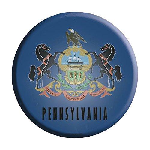 Smart Blonde Pennsylvania Flag Metal Circular Parking Sign C