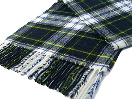 Merino Lambswool Scarves - Tartan Dress Gordon Scarf